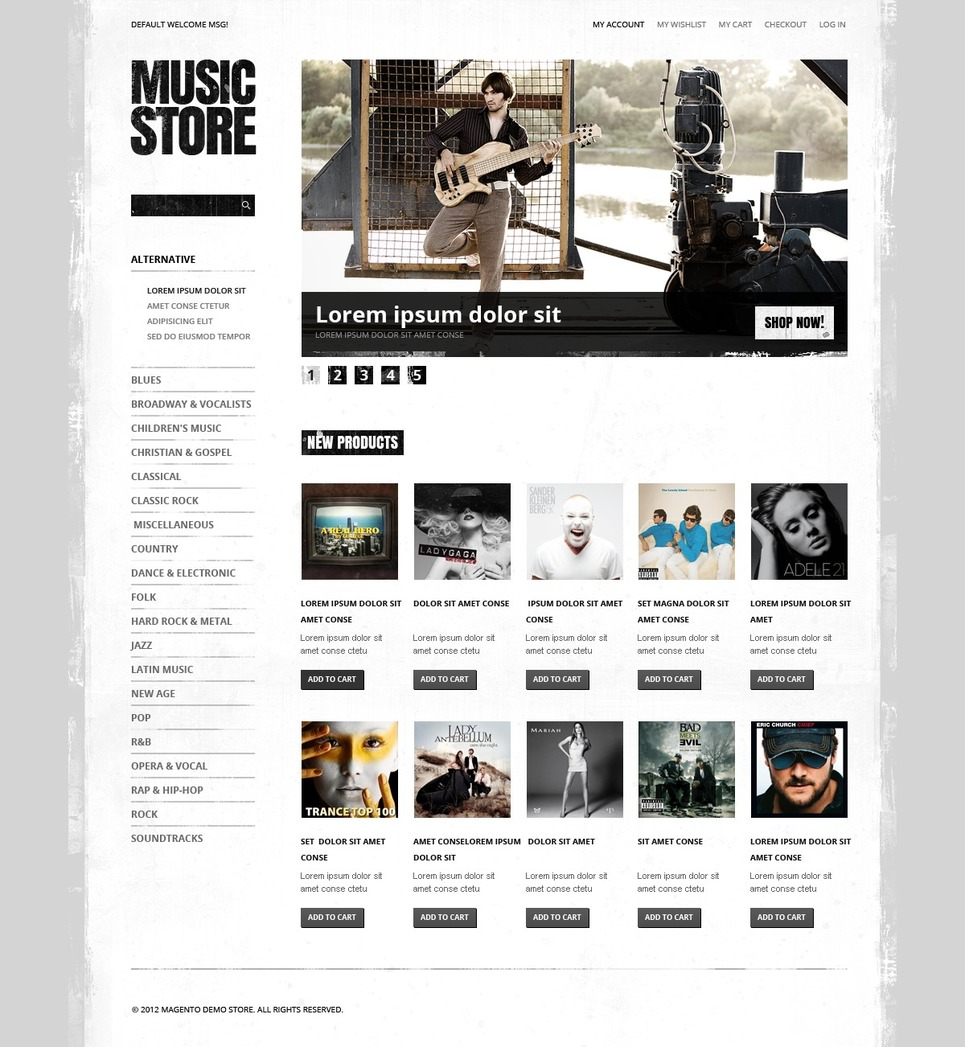 Music Store Magento Theme New Screenshots BIG