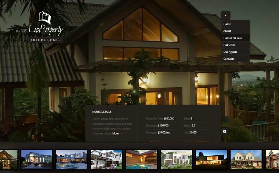 Real Estate Agency Flash CMS Template New Screenshots BIG