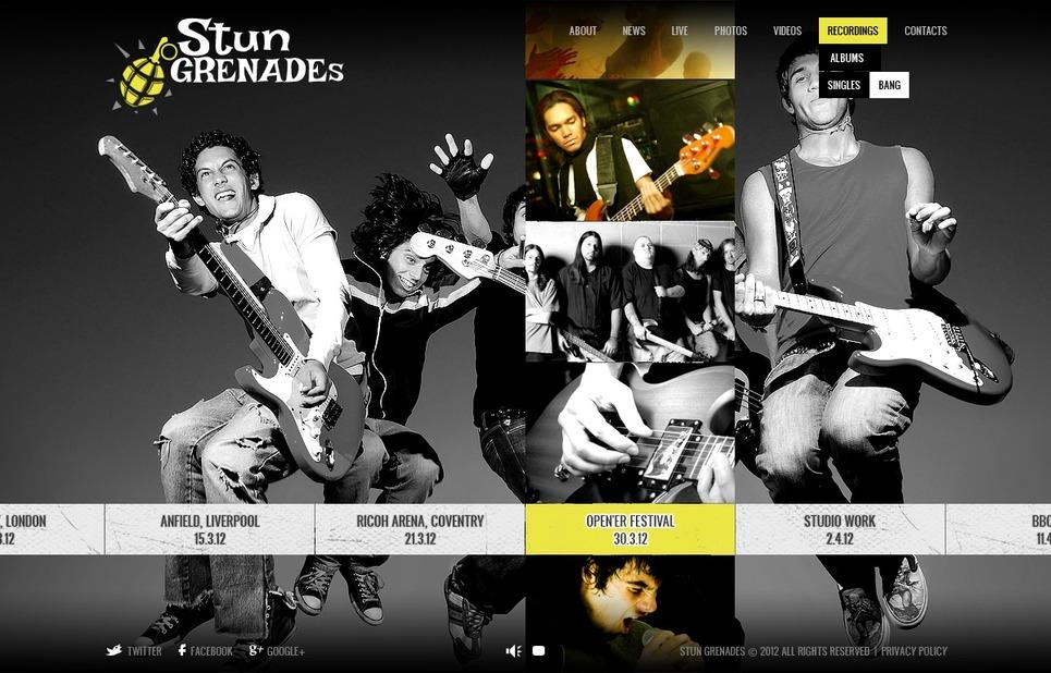 Music Band Flash CMS Template New Screenshots BIG