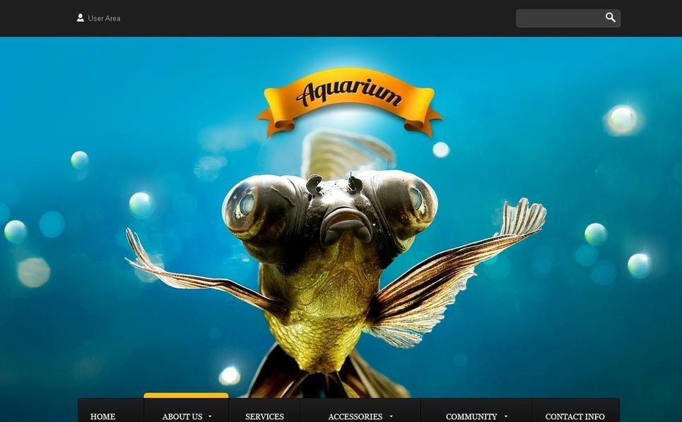 Fish Website Template New Screenshots BIG
