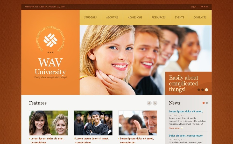 University Website Template New Screenshots BIG