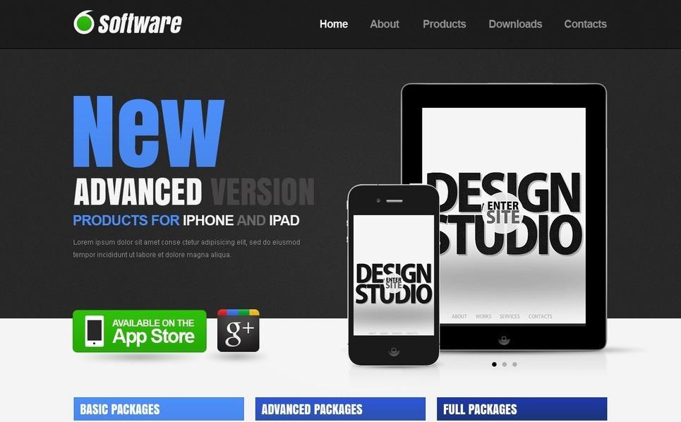 Software Website Template New Screenshots BIG