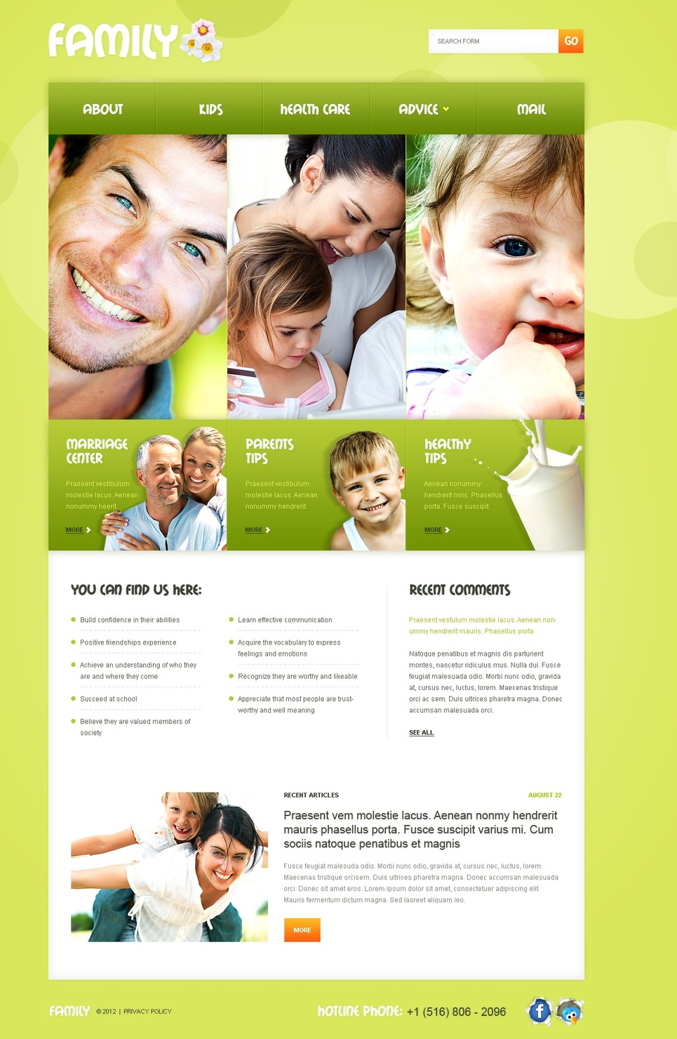 Family Website Template New Screenshots BIG