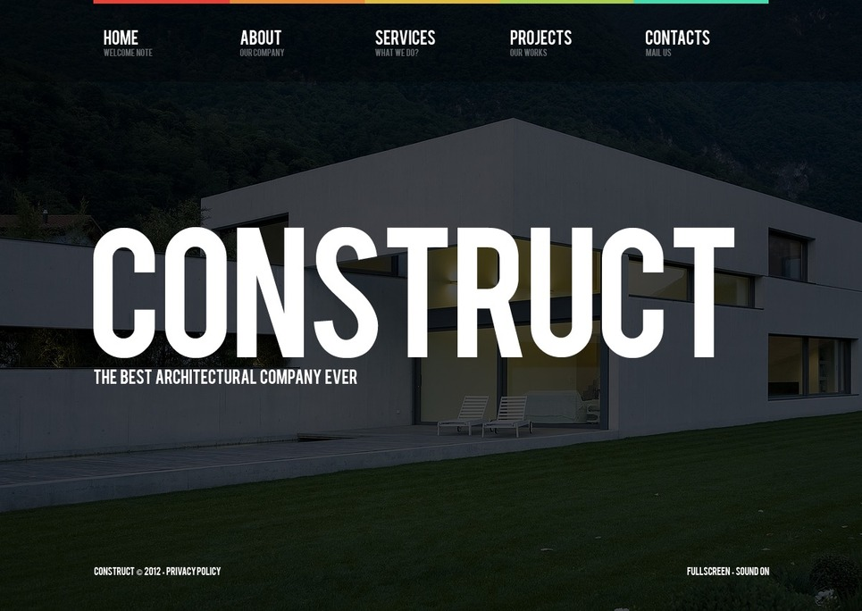 Construction Company Flash Template New Screenshots BIG