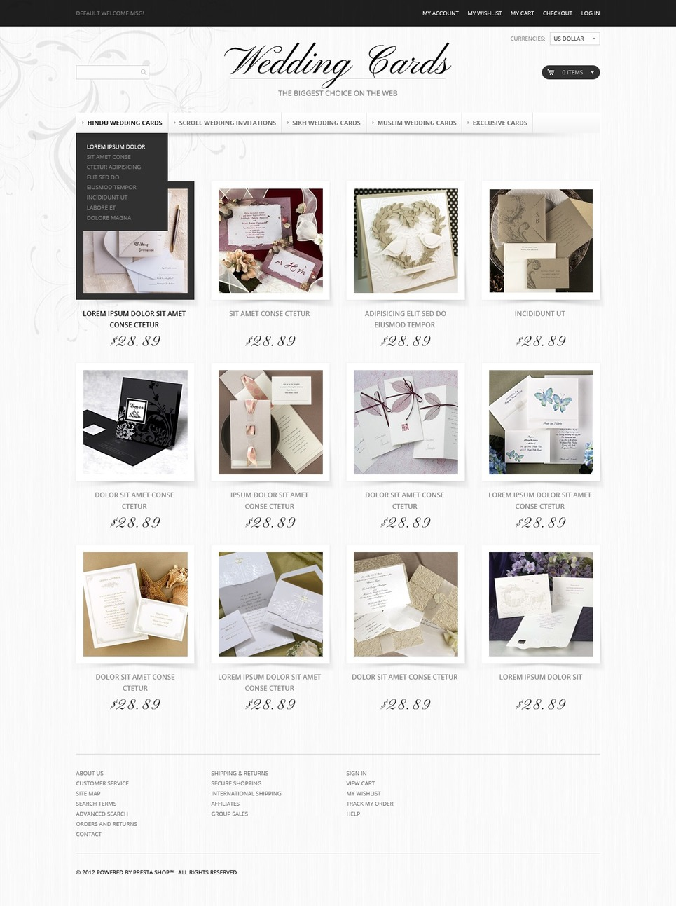 Wedding Shop Magento Theme New Screenshots BIG