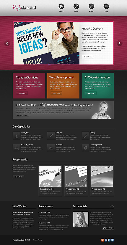 Website Template #37860