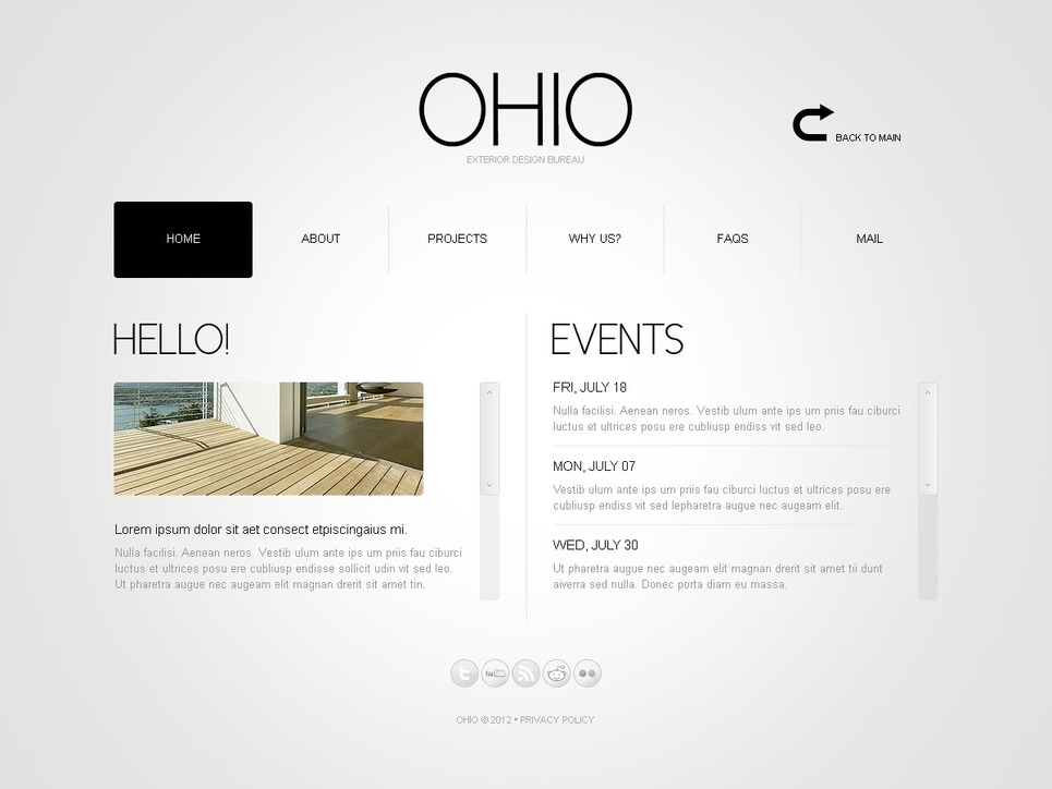 Exterior design website template web design templates for Exterior design website templates
