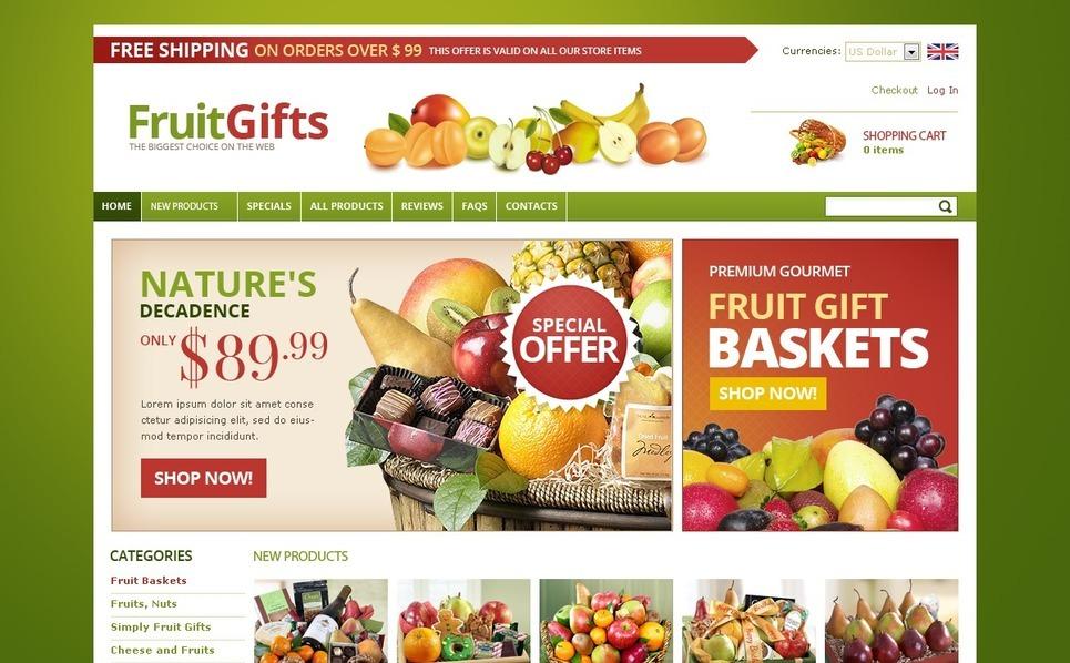 Fruit Gifts ZenCart Template New Screenshots BIG