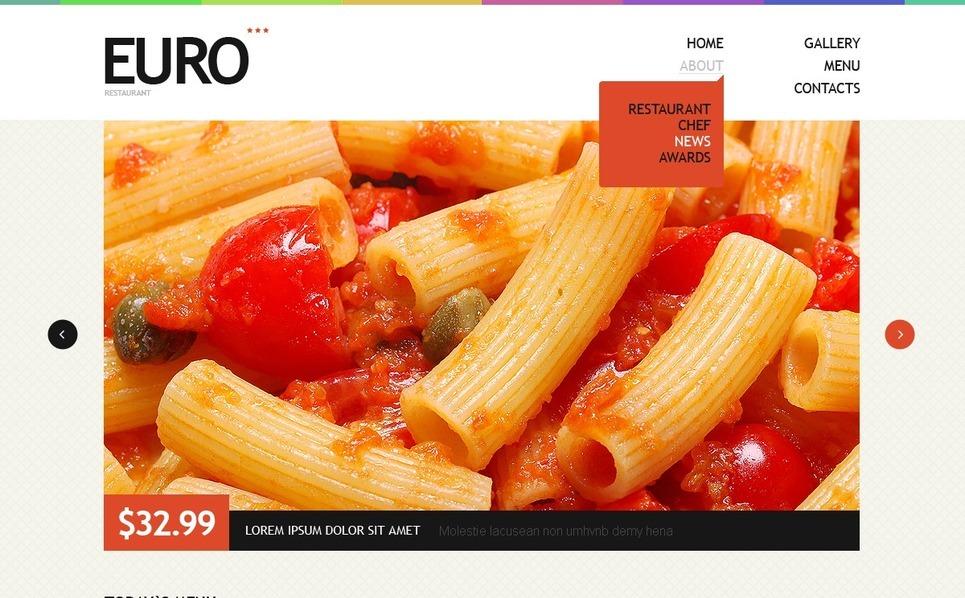 European Restaurant Drupal Template New Screenshots BIG
