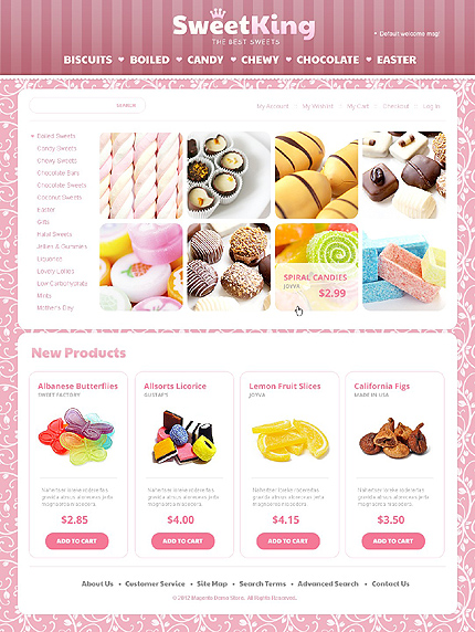 Sweet king - Delicious Sweet Shop Magento Theme