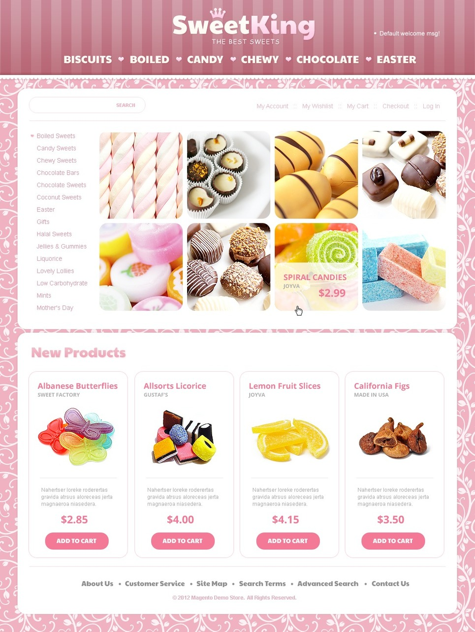 Sweet Shop Magento Theme New Screenshots BIG