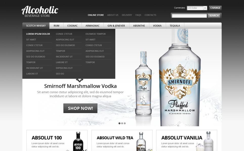 Food & Drink VirtueMart Template New Screenshots BIG