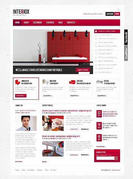 Interiox - Interior Design Drupal Template