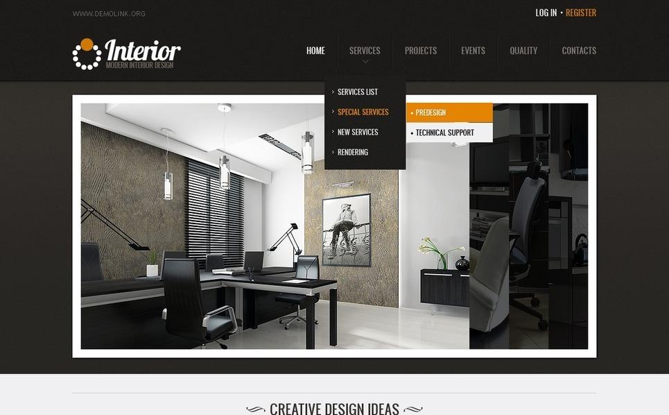Siti Di Arredamento Interni Of Template Siti Web Per Un Sito Di Design Di Interni