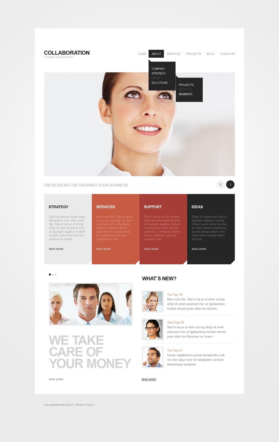 Business Drupal Template New Screenshots BIG