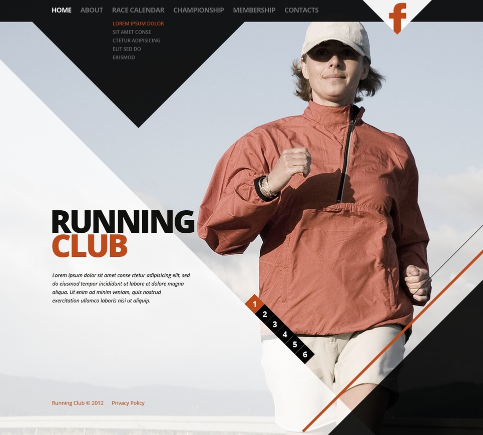 Running Website Template New Screenshots BIG