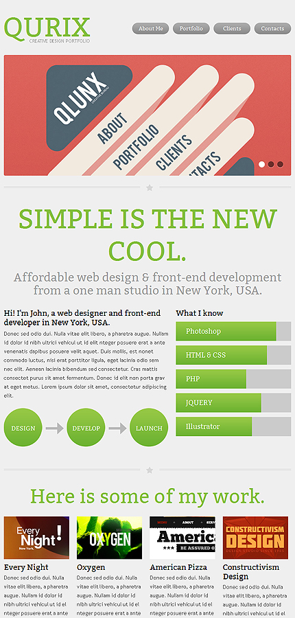 designer portfolio responsive website template web design templates website templates. Black Bedroom Furniture Sets. Home Design Ideas
