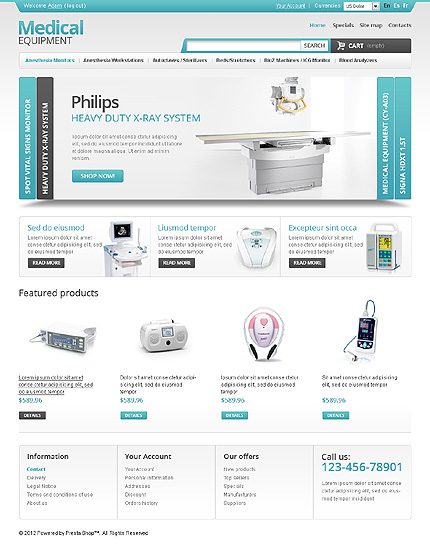 Medical equipment - Powerful Online Medical Equipment PrestaShop Theme