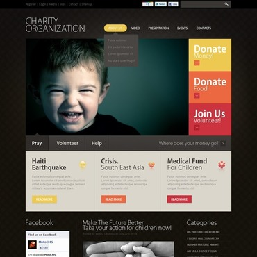 Charity Flash CMS Template