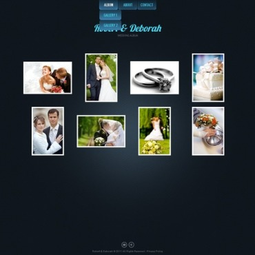 Wedding Album Flash CMS Template