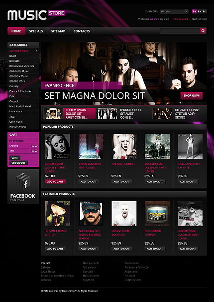 Music Store - Best Music Online Store Prestashop Theme