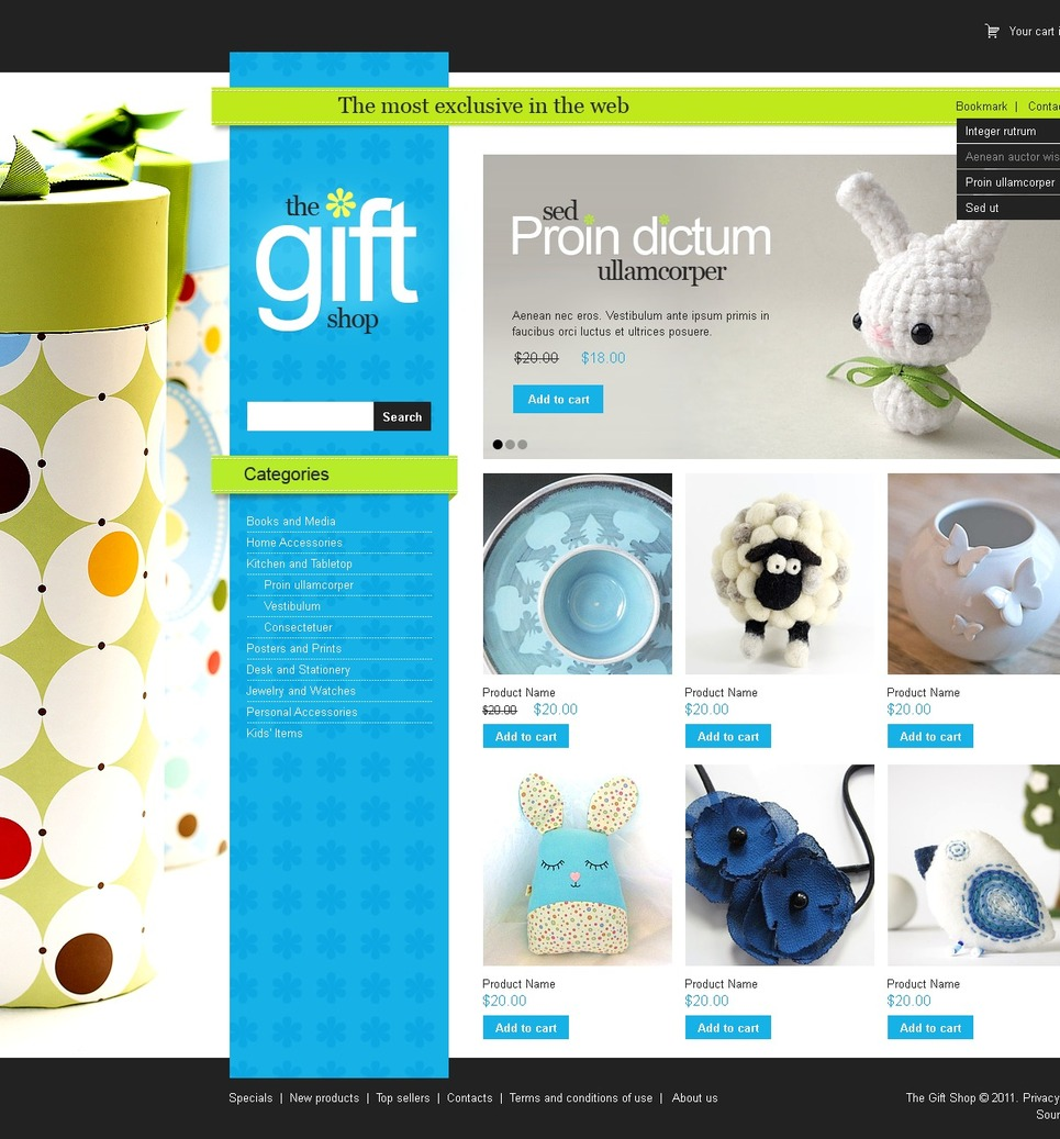 Gifts Store Flash CMS Template New Screenshots BIG