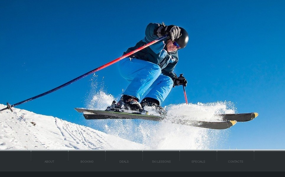 Skiing Website Template New Screenshots BIG