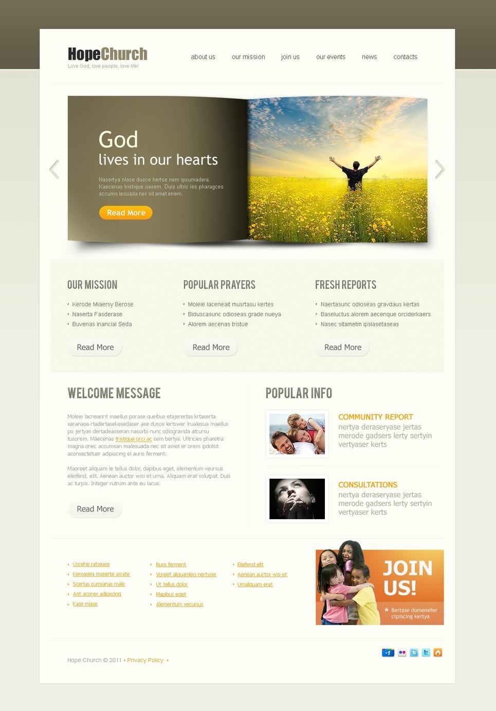 Religious PSD Template New Screenshots BIG