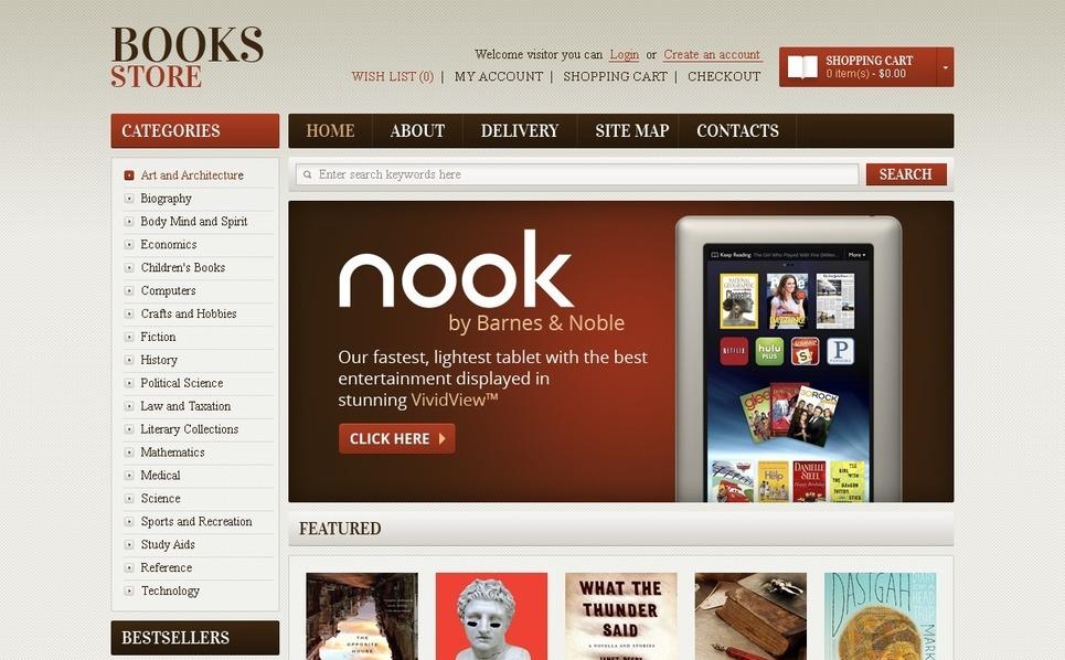 Book Store OpenCart Template New Screenshots BIG
