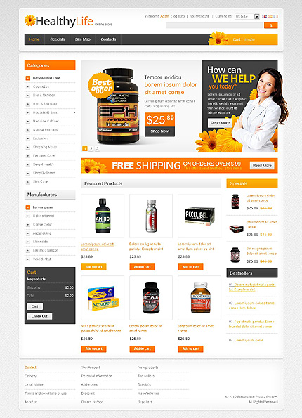 Healthy life - Effective Online Pharmacy Store PrestaShop Theme