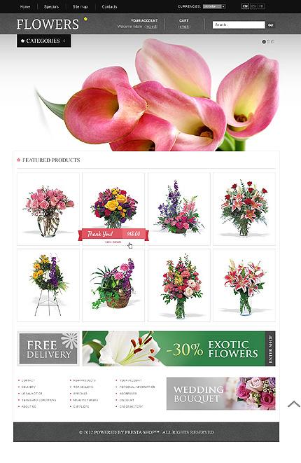 Flowers - Blooming Flowers PrestaShop Theme