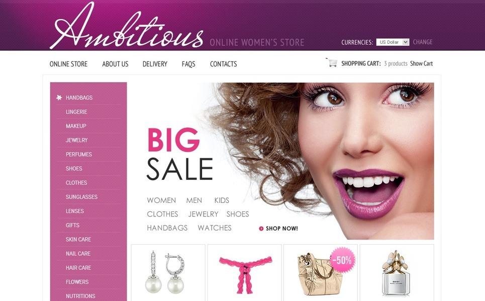 Women's Store VirtueMart Template New Screenshots BIG