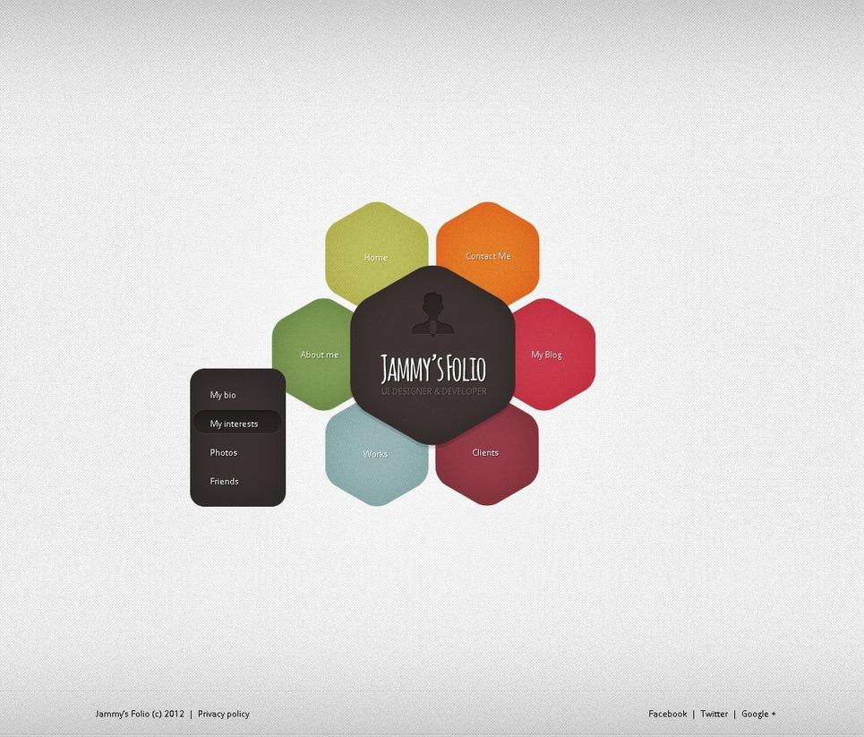 Designer Portfolio Website Template #38198