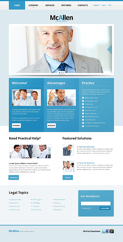 Website Template #38214