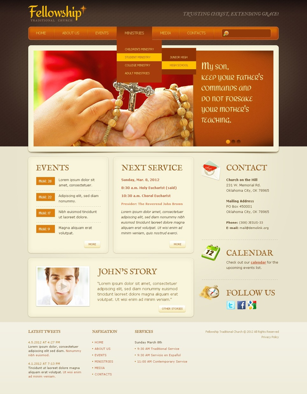 Christian Website Template New Screenshots BIG