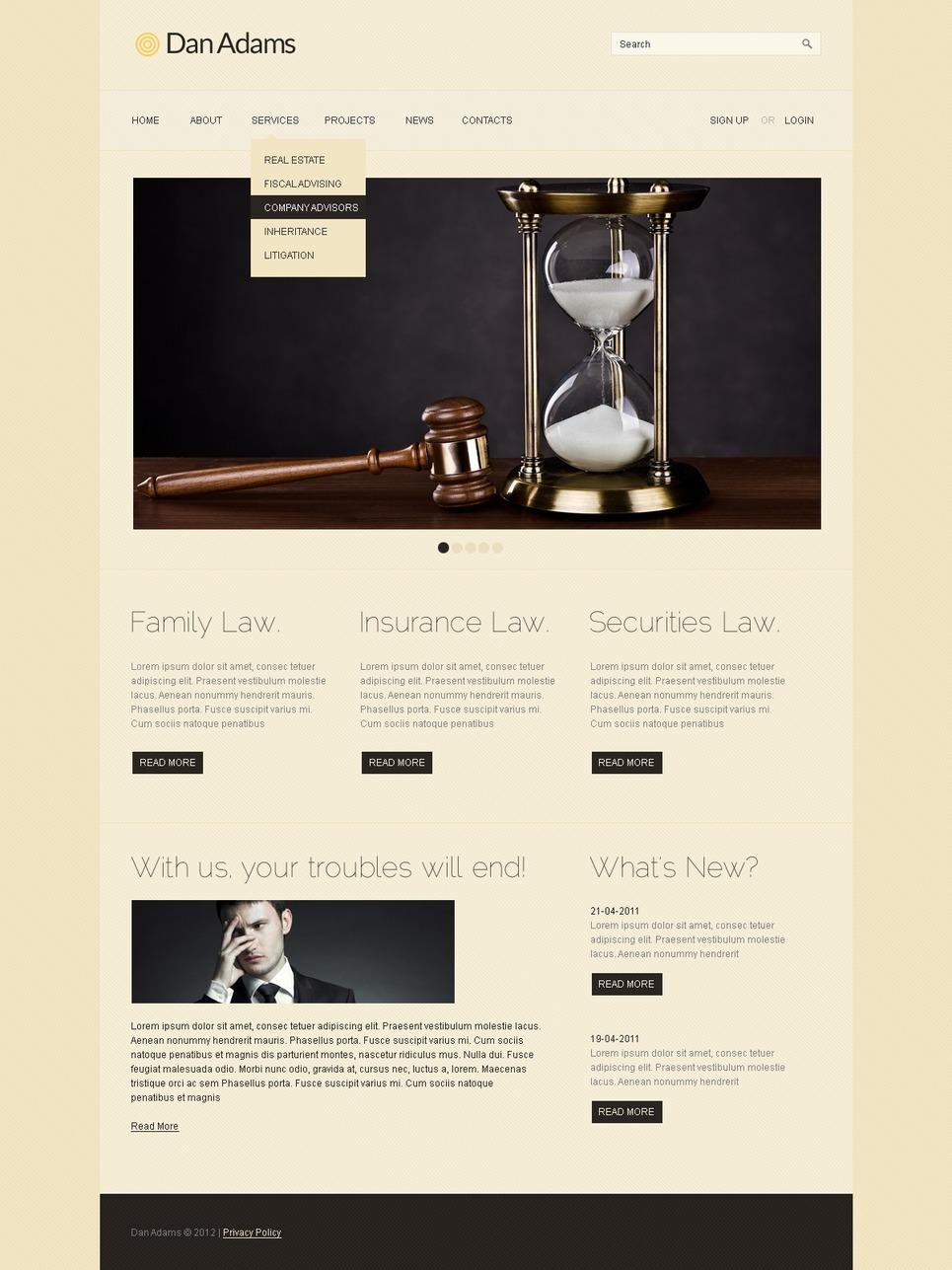 Lawyer WordPress Theme New Screenshots BIG