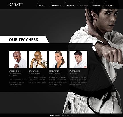 Martial Arts Website Template 38234