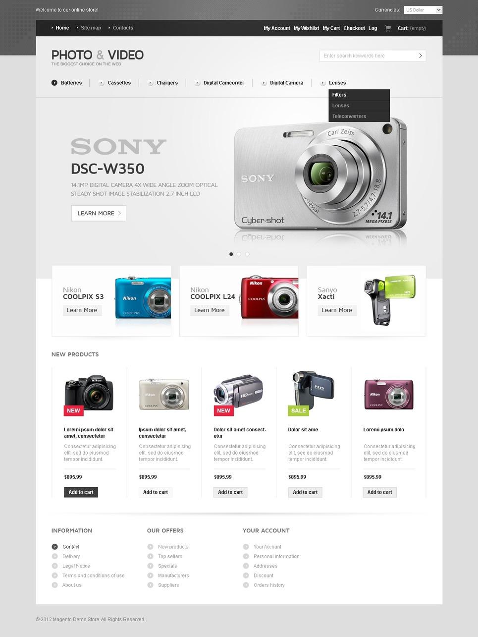 Creative Video Store Magento Theme
