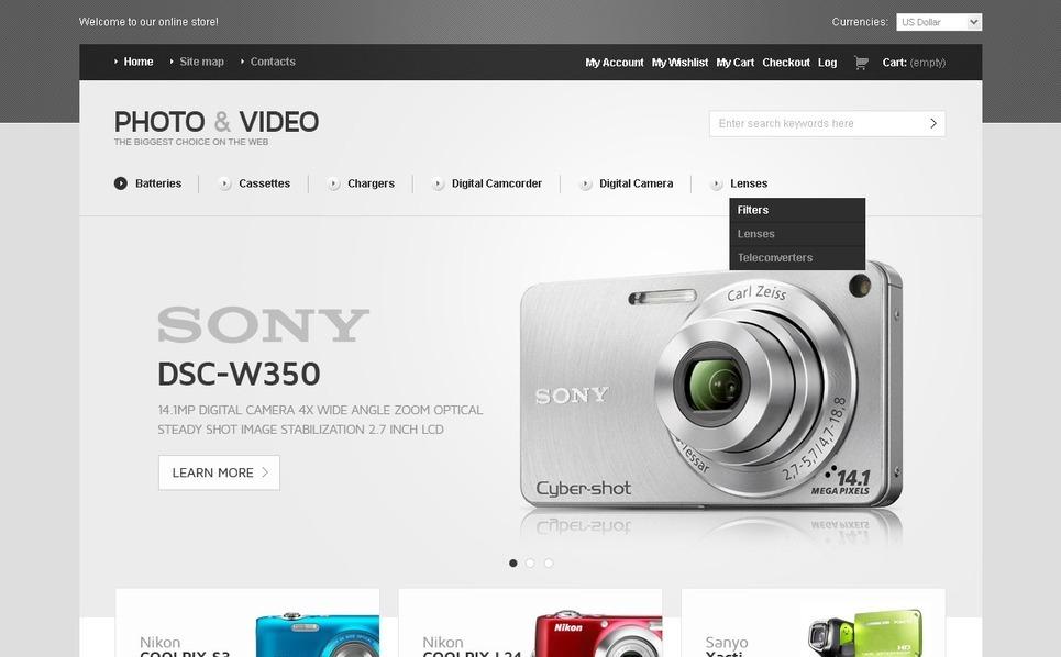 Video Store Magento Theme New Screenshots BIG