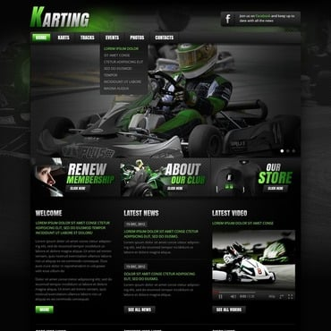 Karting Website Template