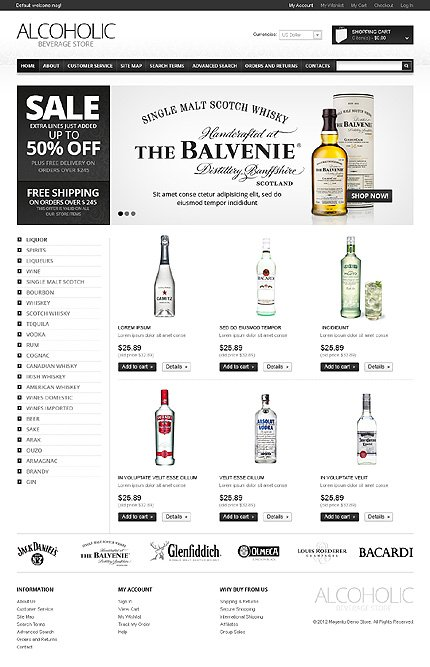 Alcoholic beverage store - Best Magento Drink Store Theme