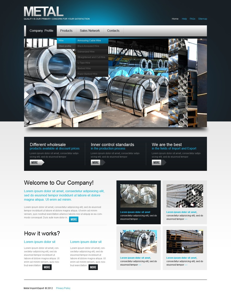 Steelworks PSD Template New Screenshots BIG