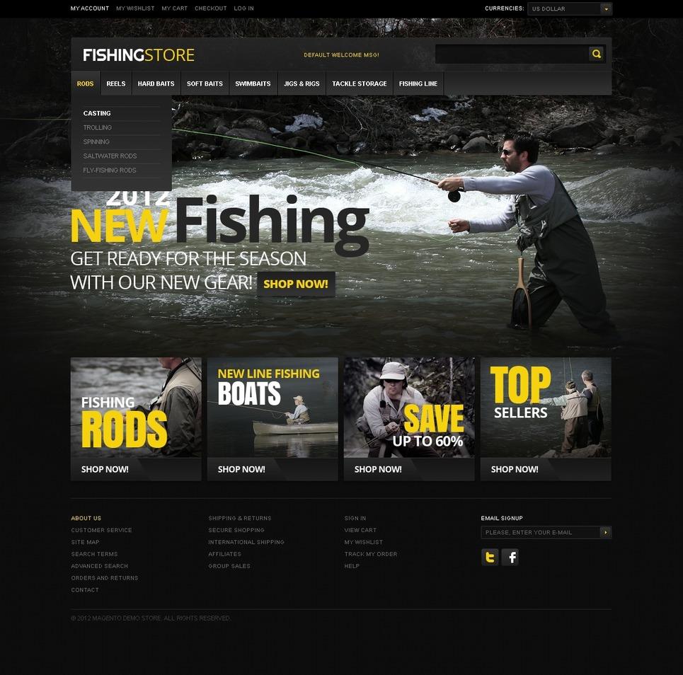 Fishing Magento Theme New Screenshots BIG