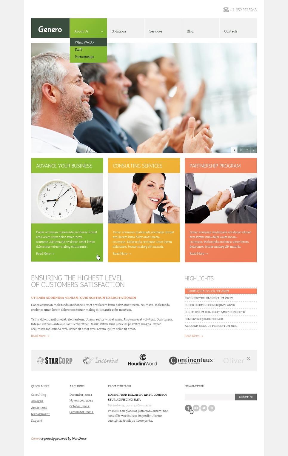 Business WordPress Theme New Screenshots BIG