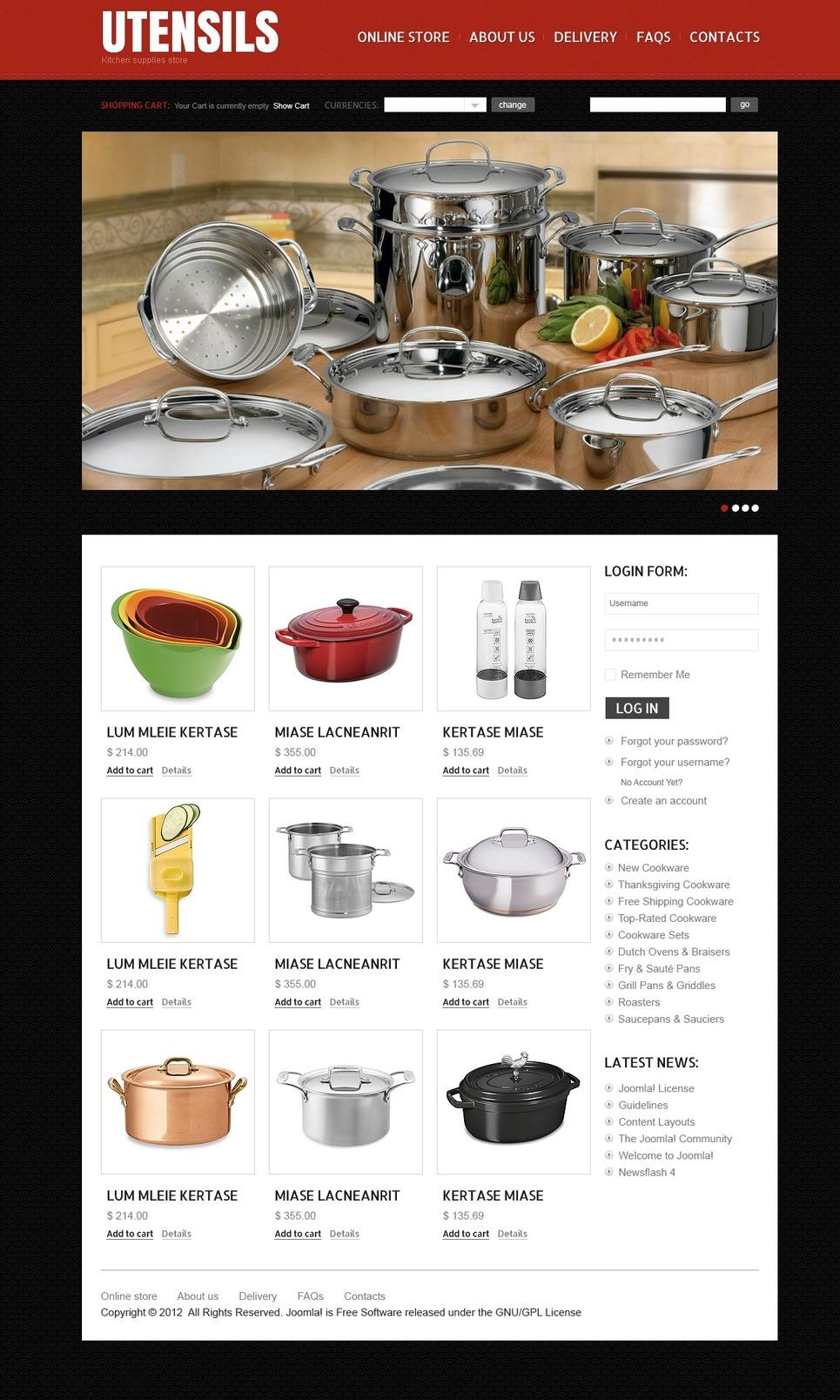 Kitchenware VirtueMart Template New Screenshots BIG
