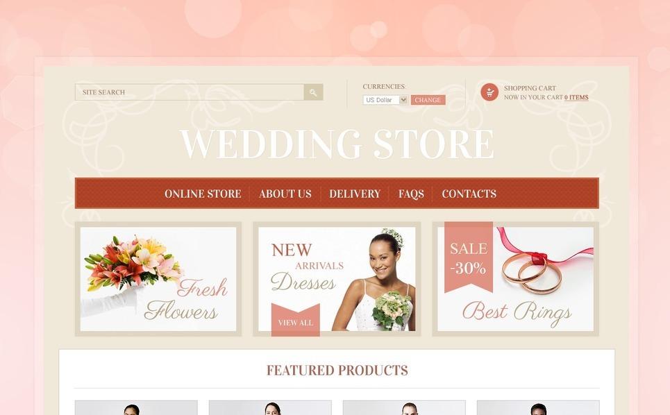 Wedding Finery & Accessories VirtueMart Template New Screenshots BIG