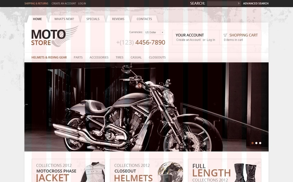 Bike Shop OsCommerce Template New Screenshots BIG