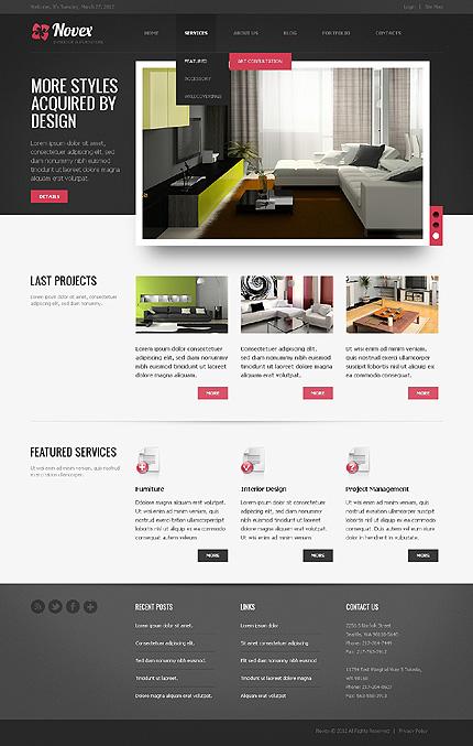 Novex - Stylish Interior Design Drupal Template
