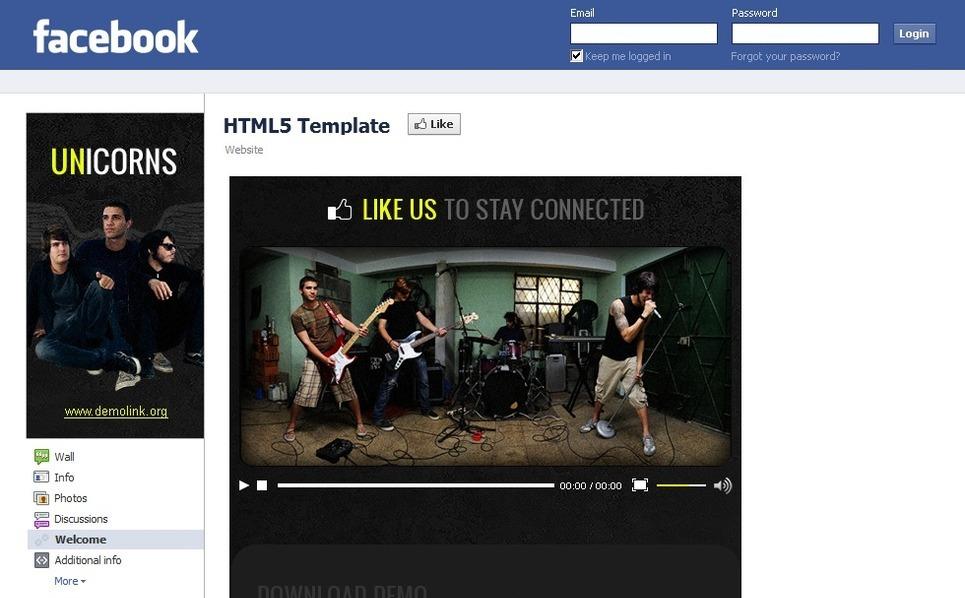 Music Facebook Template New Screenshots BIG