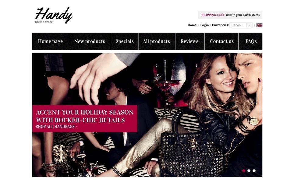 Bags & Purses ZenCart Template New Screenshots BIG